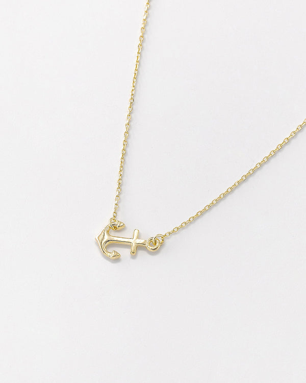 Dede Anchor Necklace, Sterling Silver