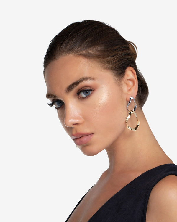 Soraya Two Tone Drop Earrings