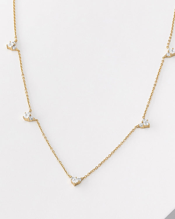 Raya Heart Gold Necklace