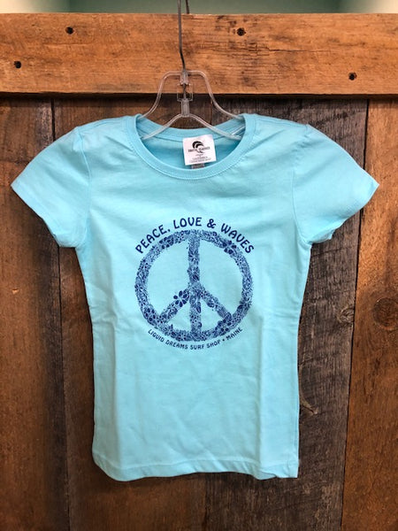 LDS Peace Love and Waves Youth S/S