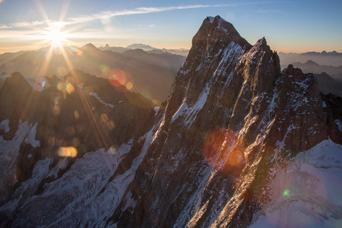 Grandes Jorasses at sunrise
