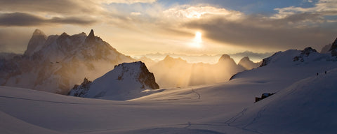 Sunrise over the Col du Midi