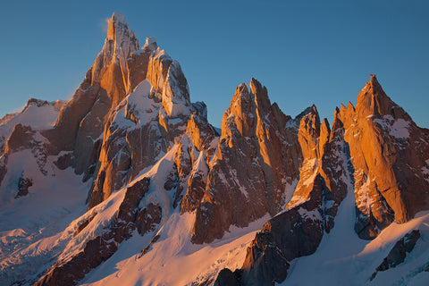 Cerro Torre massif at sunrise