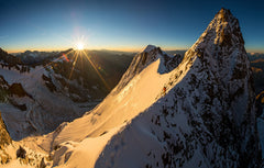 Sunrise on the Aiguille Blanche de Peuterey