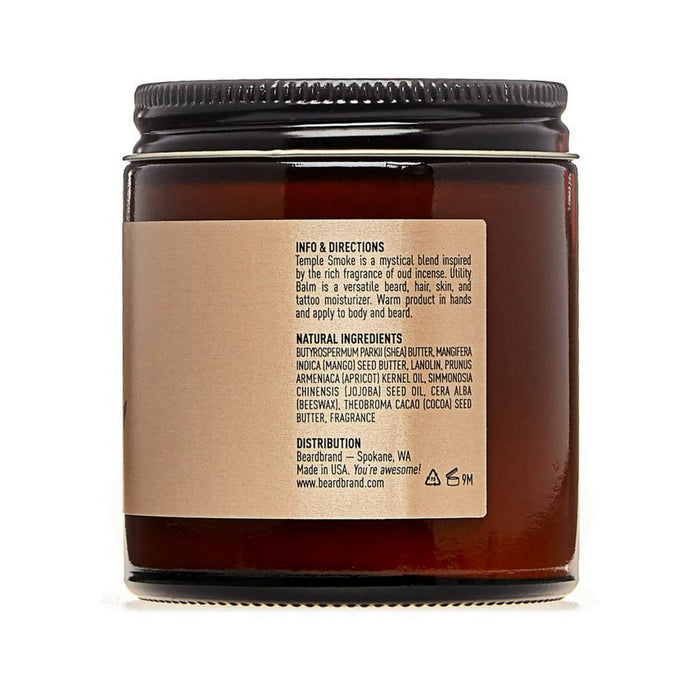 Beardbrand Temple Smoke Utility Balm 100ml