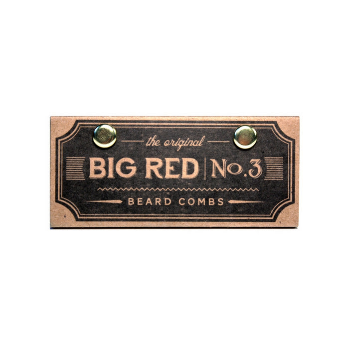 Big Red No.3 Walnut viiksikampa