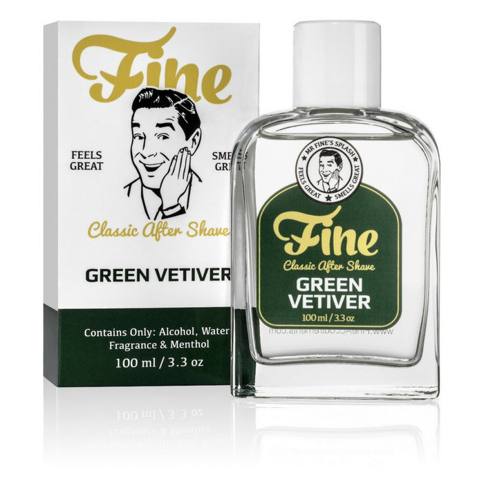 Fine Accoutrements Green Vetiver aftershave splash 100ml