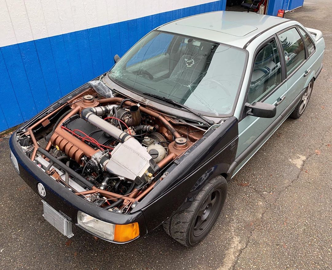 VR6-Turbo B3 Passat, Custom Tube Chassis