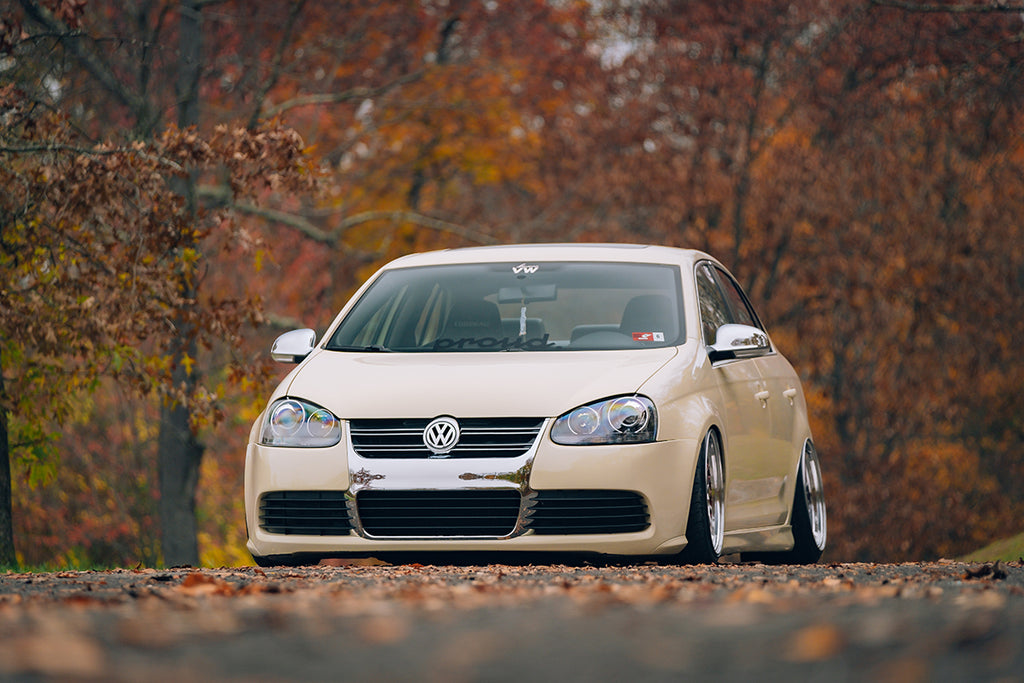 bagged mk5 jetta front