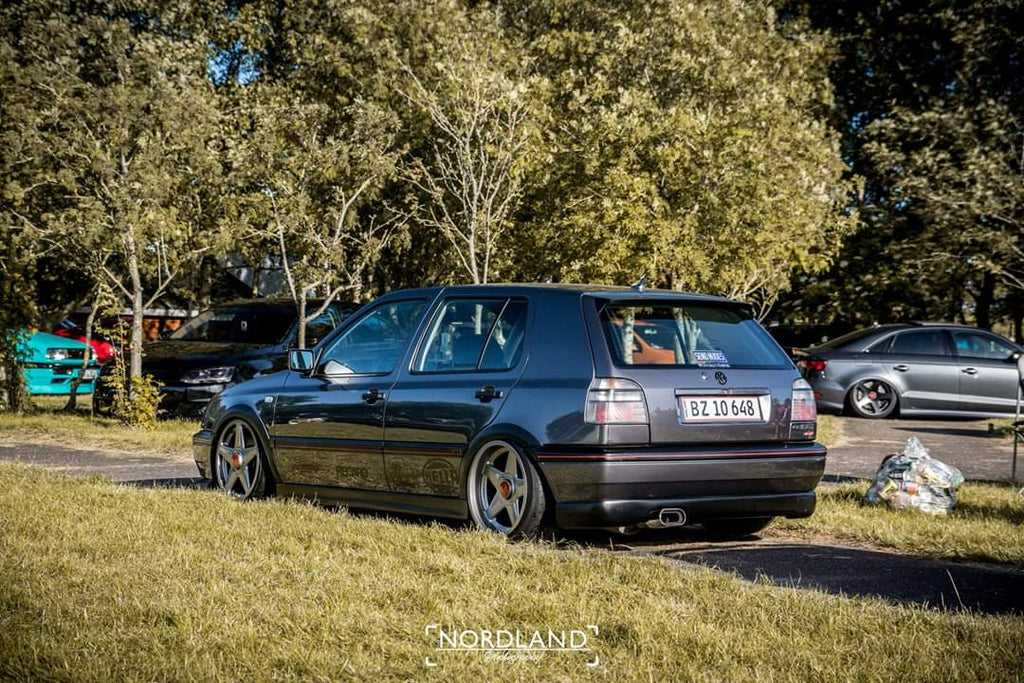 mk3 golf stance votex wing lip spoiler clear tails