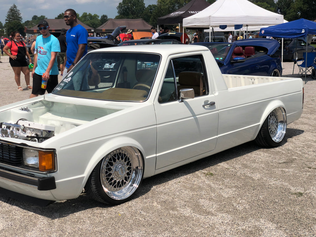 mk1 vw caddy white stance itb shaved bay bbs