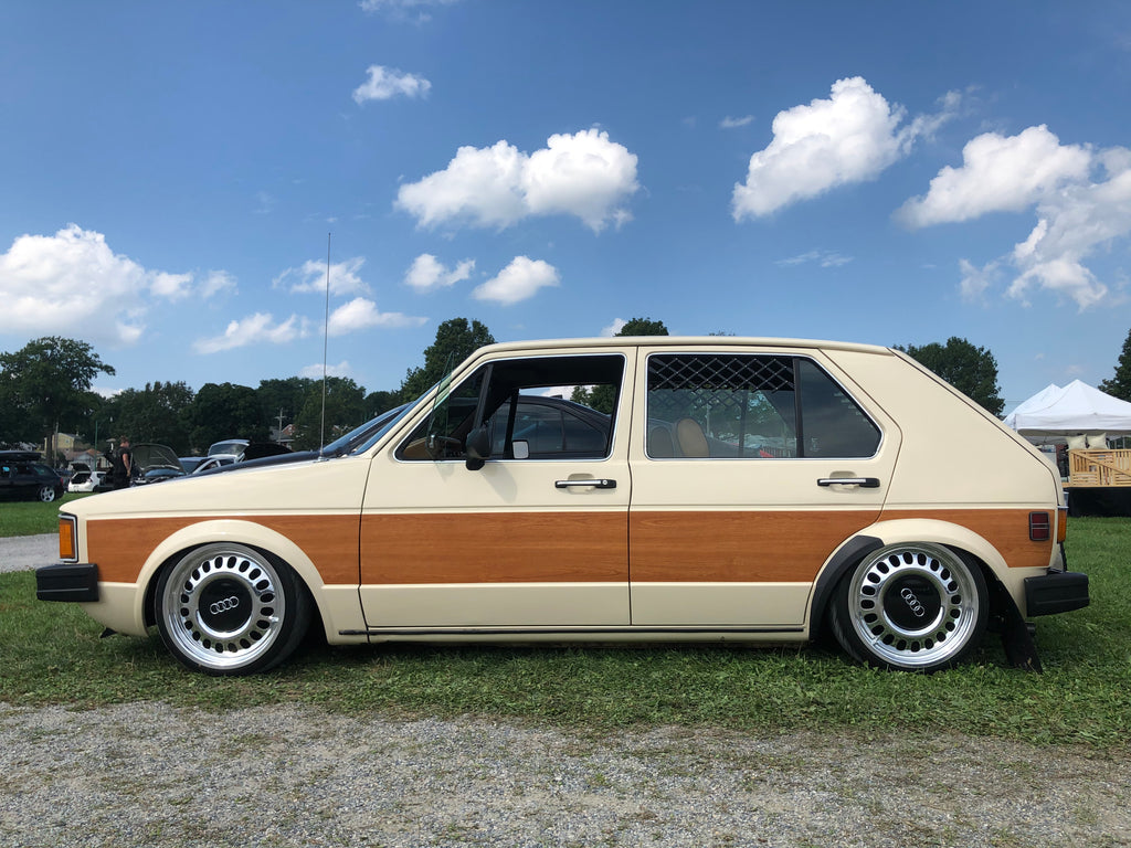 mk1 woody wooden panel golf audi wheel stance side shot