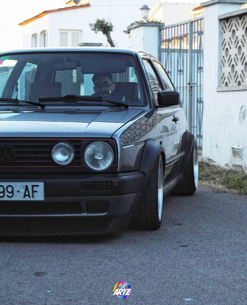 vw mk2 dual rounds stance wide flares