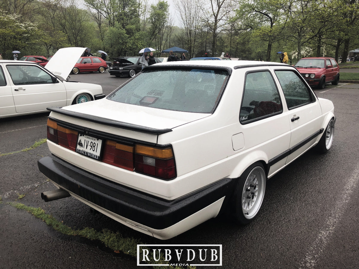 white big bumper jetta coupe rear stance