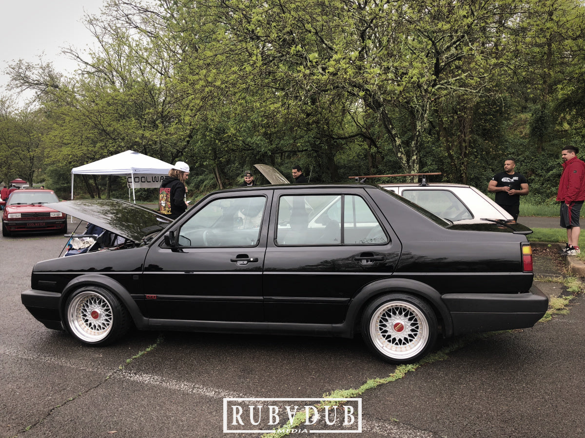 black mk2 jetta stance on bbs rm