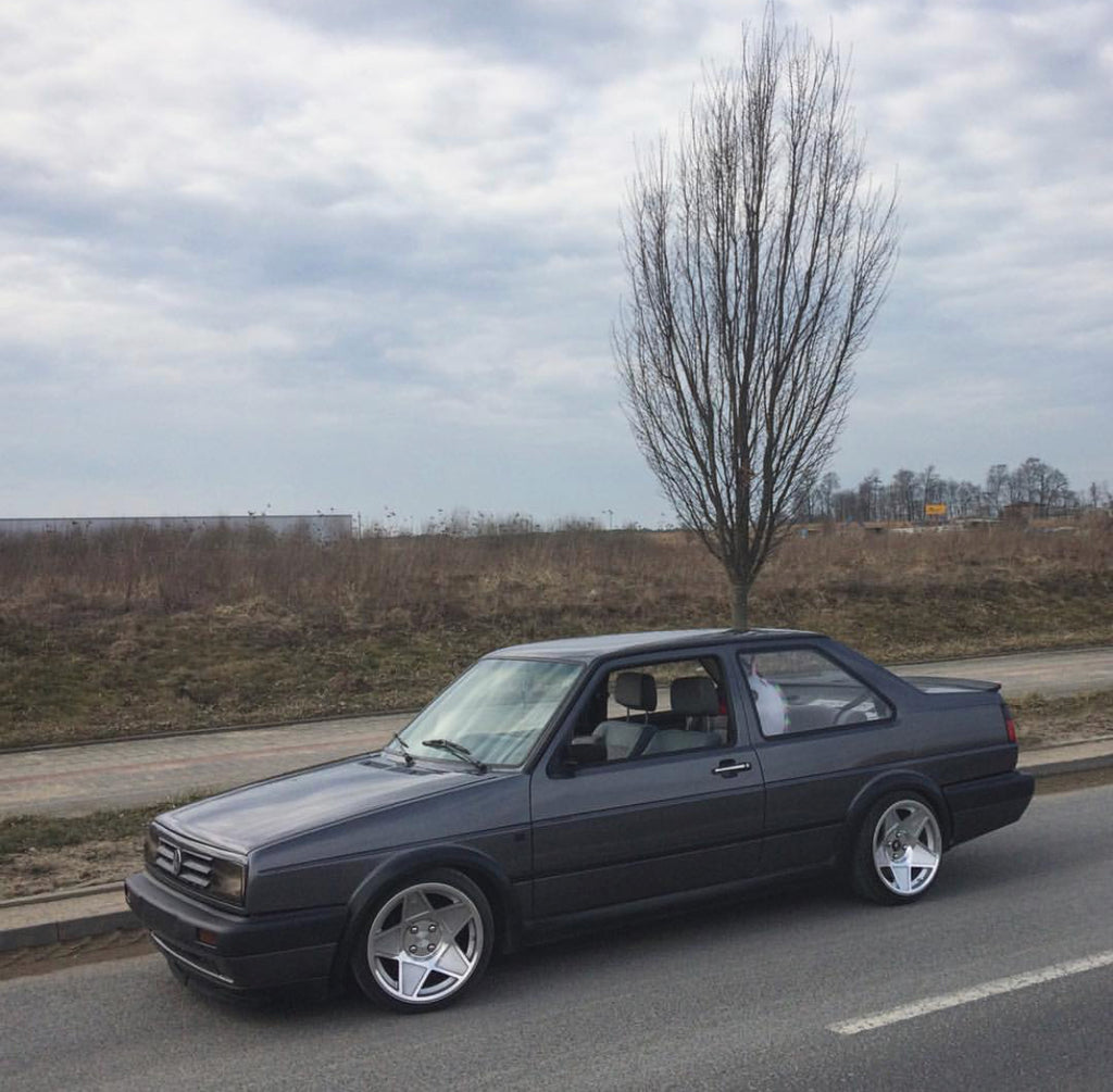 gray mk2 jetta stance big bumpers