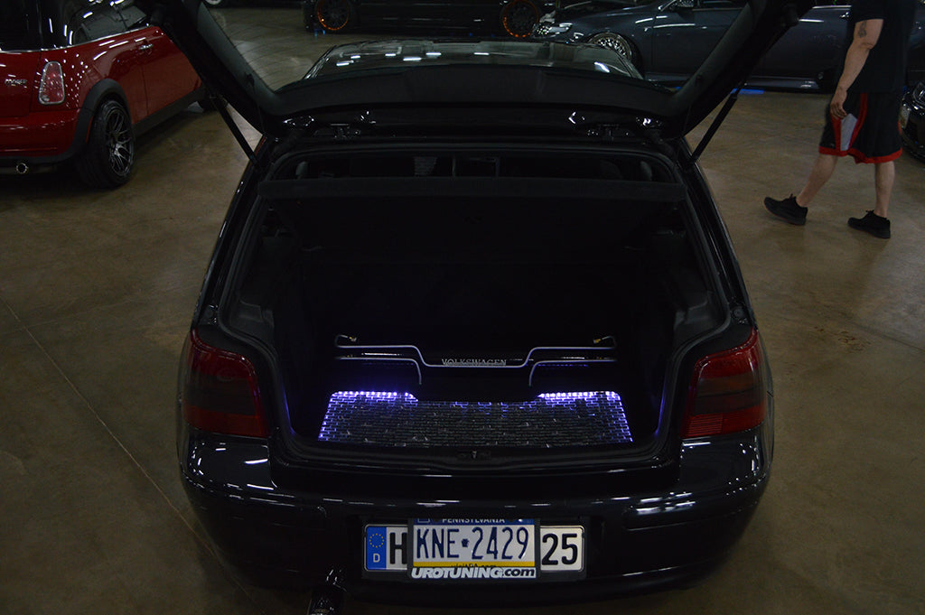 mk4 gti air suspension trunk setup lights hard lines