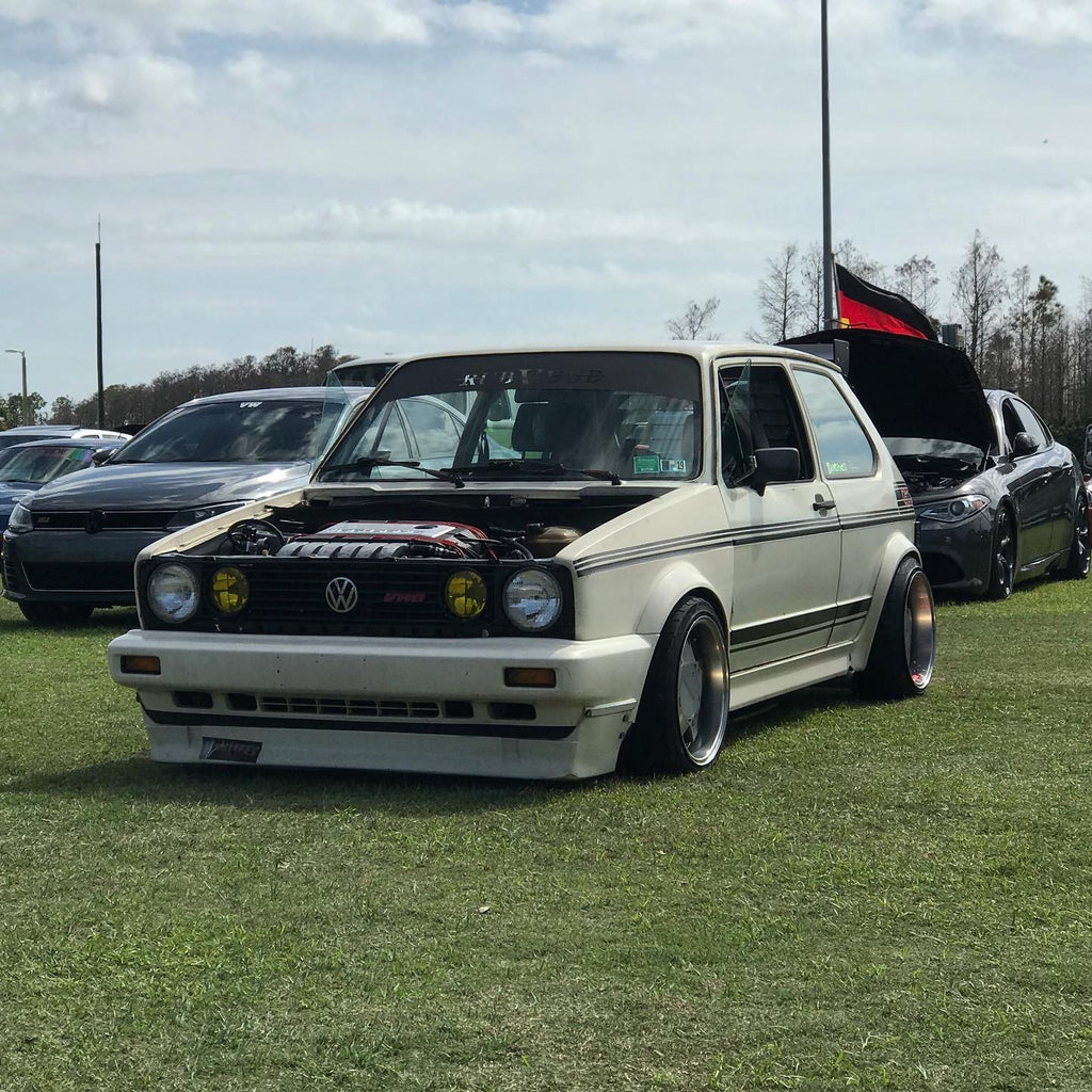 vw mk1 vrt with clipper kit and borbet stance