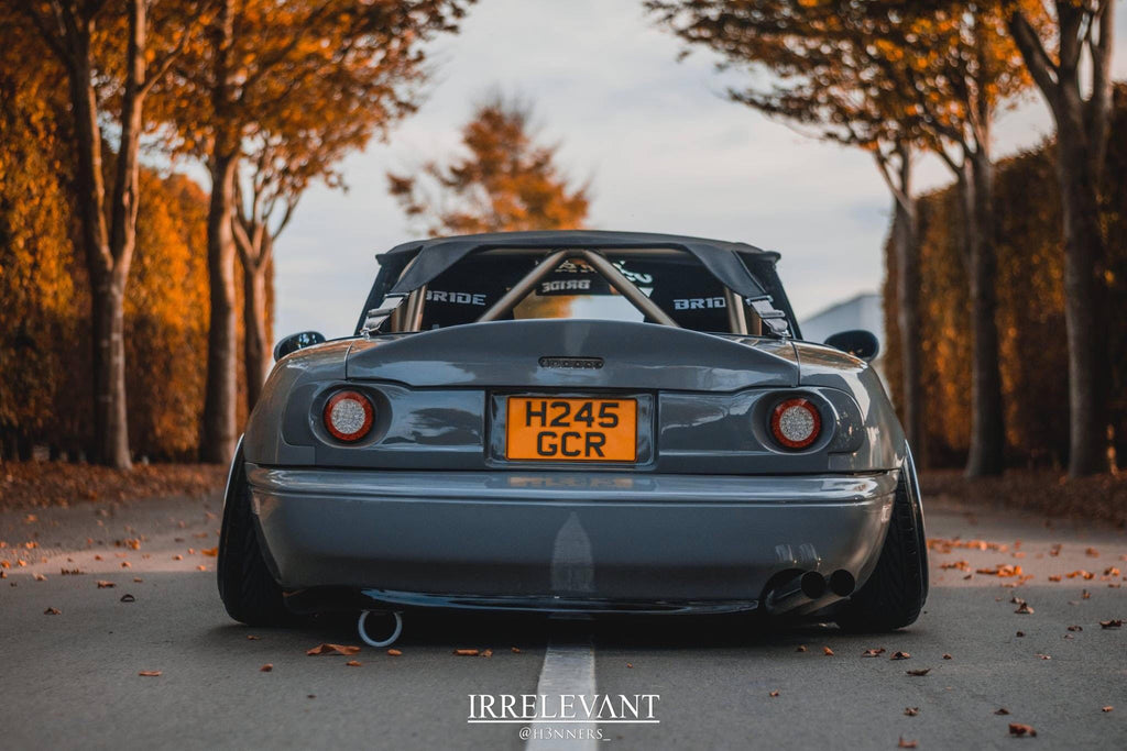 bagged na miata stance rear