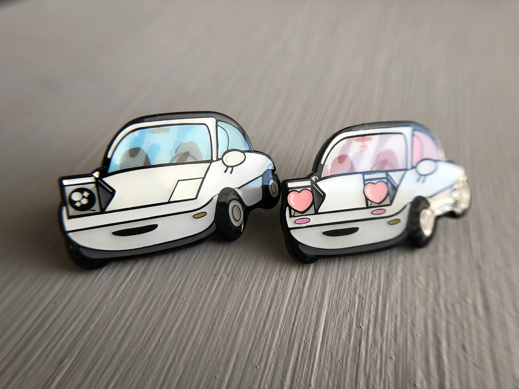 cute kawaii miata stickers pins gift fanart