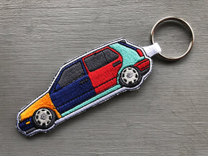 vw mk3 harlequin golf key chain stance