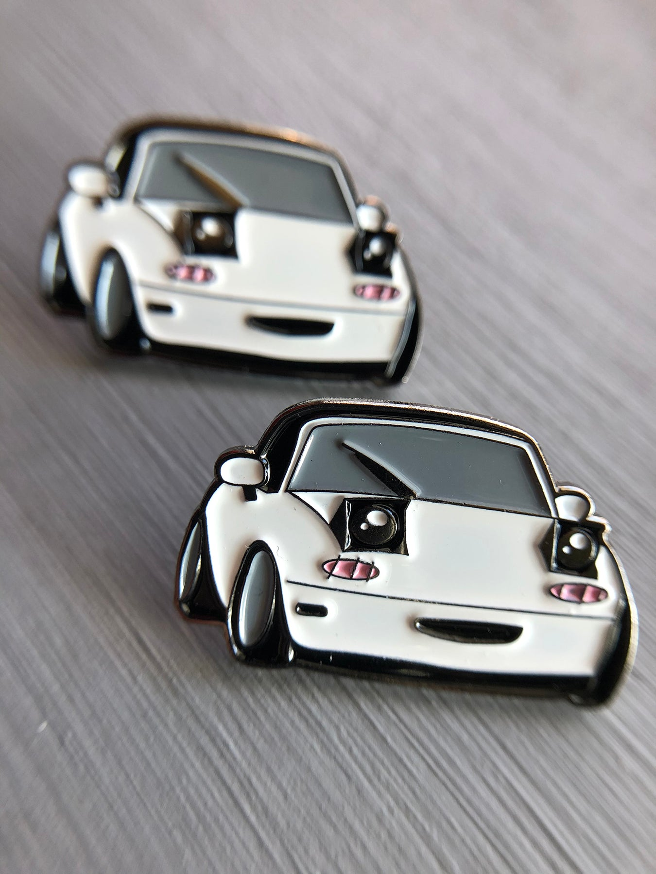 Flippy the Kawaii Miata Enamel Pin