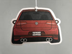 mk7 dual exhaust gti stance rear