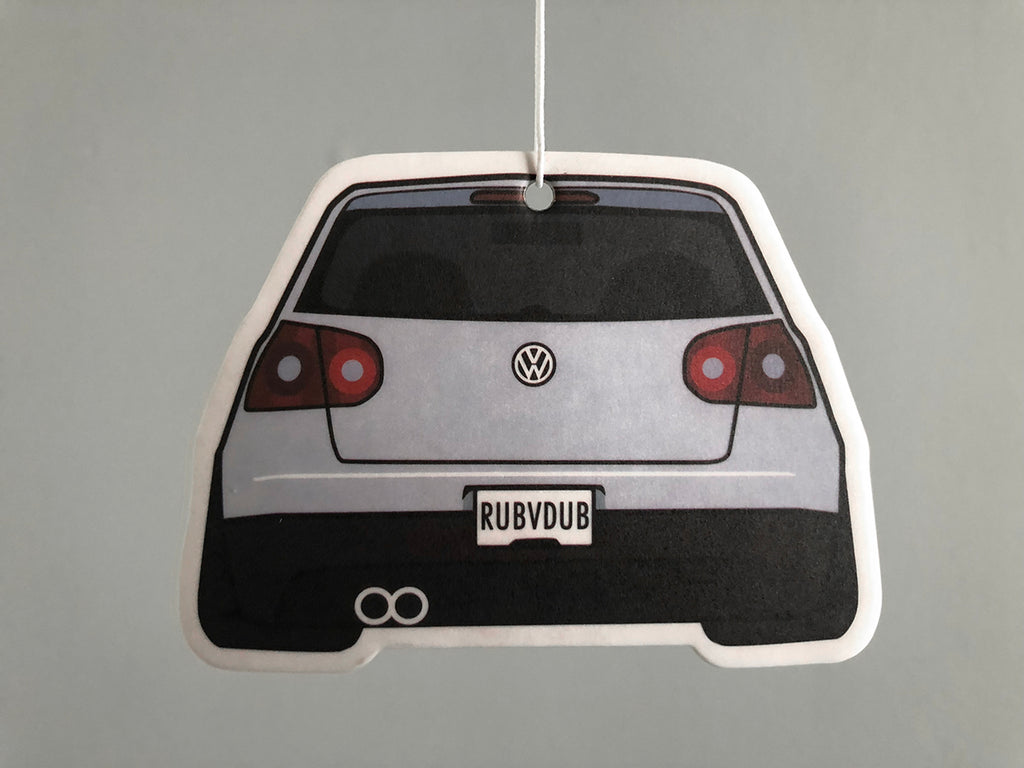 white mk5 rabbit stance air freshener