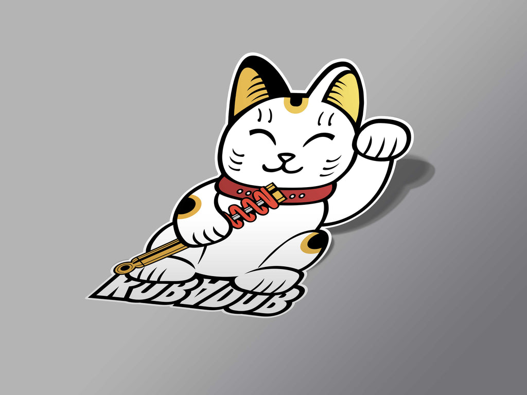 Lucky Coilover Cat Sticker
