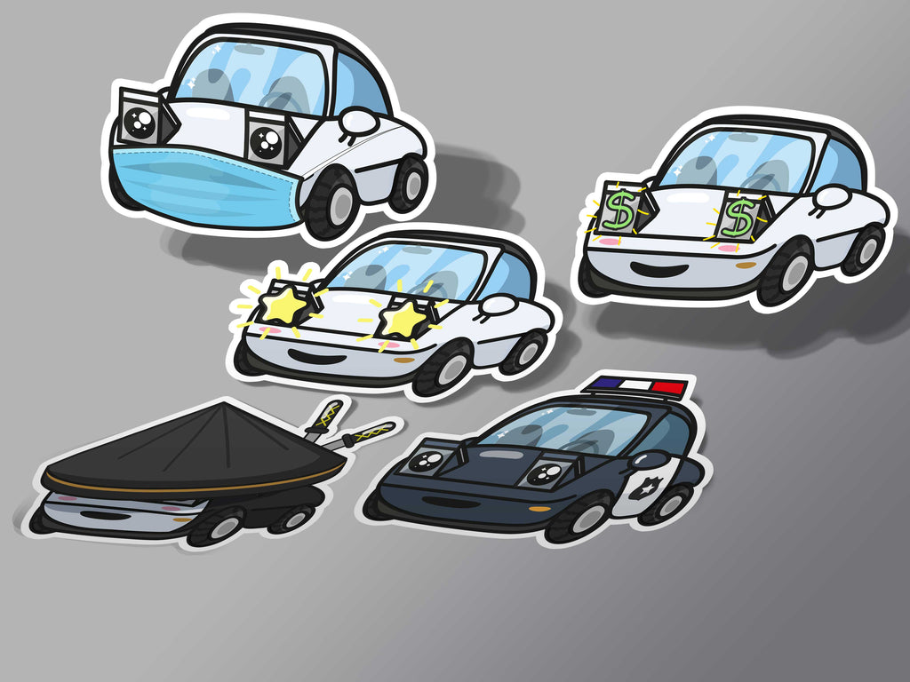 Miata Moods Sticker Set V3