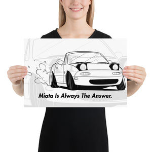Miata Is Always The Answer Poster