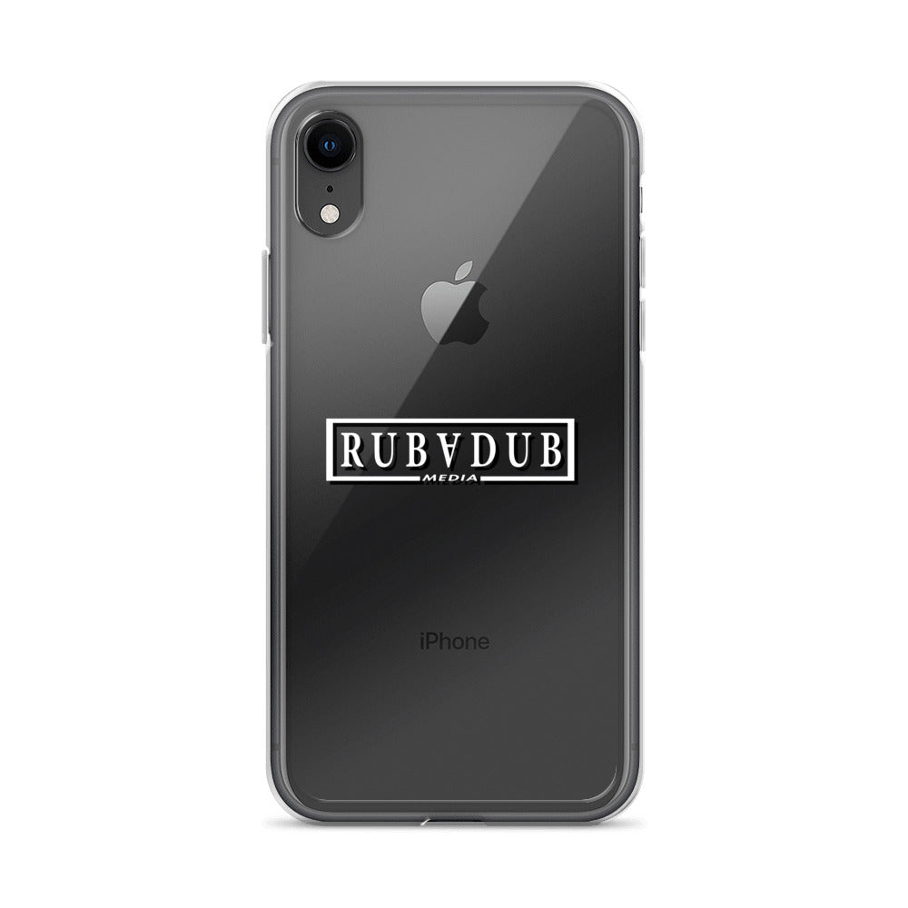Rubadub Media Clear iPhone Case
