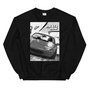 na miata manga art stance long sleeve shirt crewneck