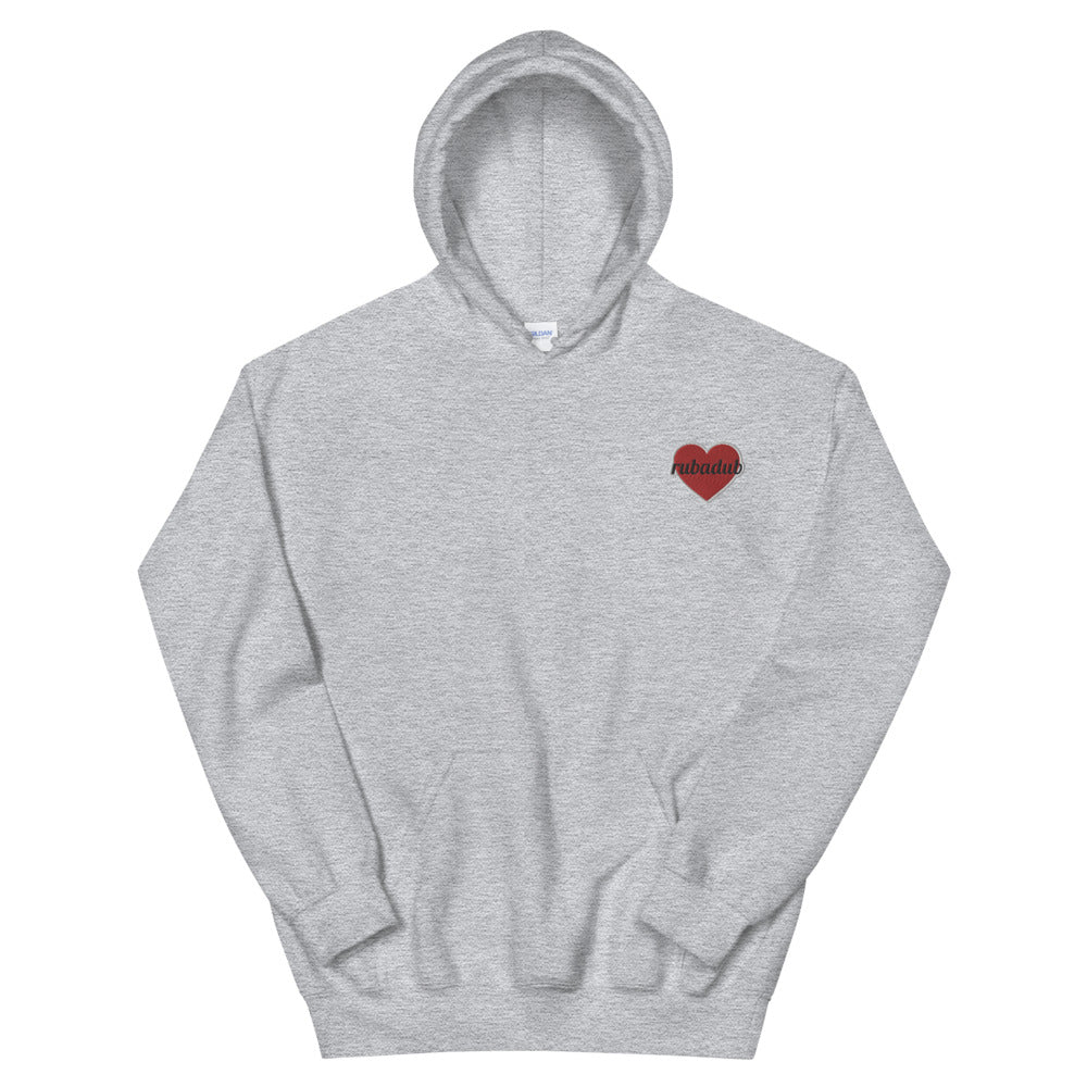 Love-A-Dub Embroidered Heart Hoodie
