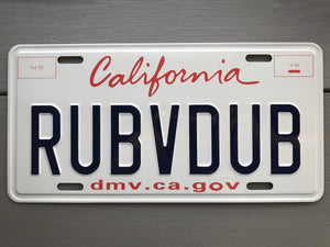 California license plate  for sale
