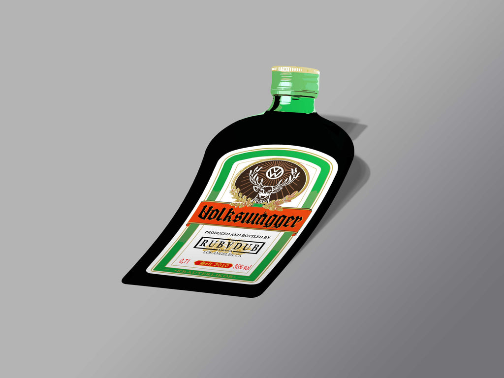 Volkswagger Bottle Sticker
