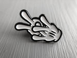 vdub hands enamel pin