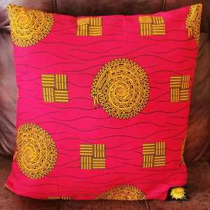 Chido Decorative Pillows-Red/Gold