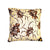 Ankara Square Cotton Pillow Cover & Insert Gold