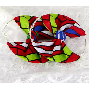 Kumusha Bow Ankara Earrings