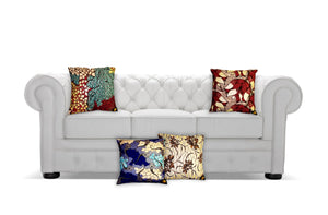 Ankara Square Cotton Pillow Cover & Insert Multi