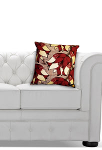Ankara Square Cotton Pillow Cover & Insert Red
