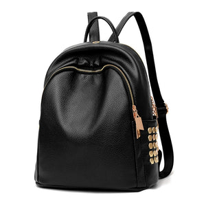 b01f39105 Gold Accented PU Leather Professional Designer Backpack Purse -  XperienceAccessories.com