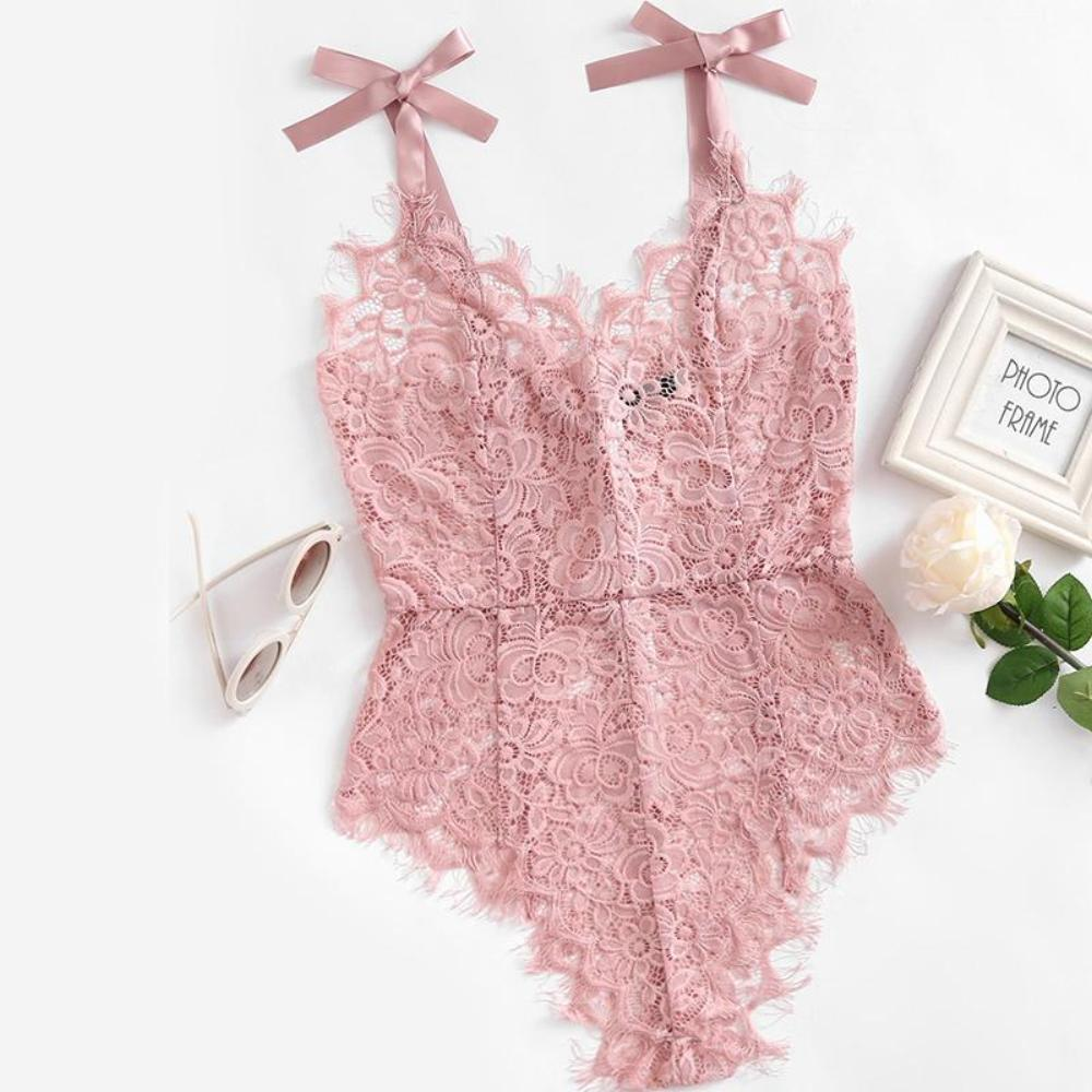 Too Cute to Handle Floral Lace Bodysuit - Exclusivitystore