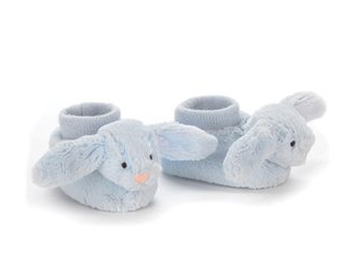 Jellycat - Bashful Bunny Booties - Blue