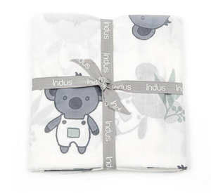 Koala print cotton baby wrap