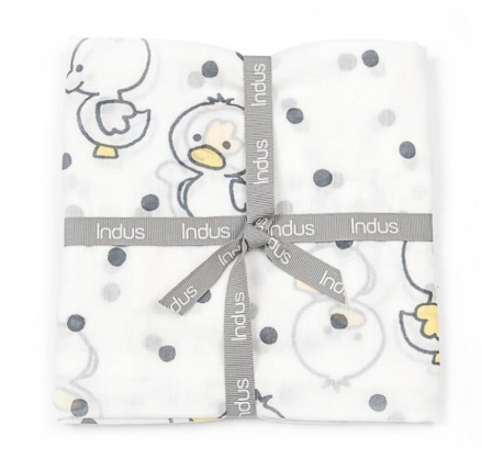 Indus cotton baby wrap in duckings design