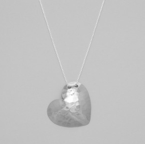 Necklace - Sterling silver - Heart - 50% off, now