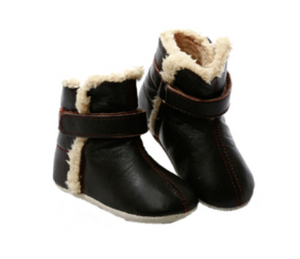 Skeanie - Leather Pre-Walker Snug Boot - Chocolate was $49 now $24.50