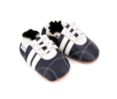 Skeanie - Leather Pre-Walker Sneakers Navy/White were $45 now $22.50